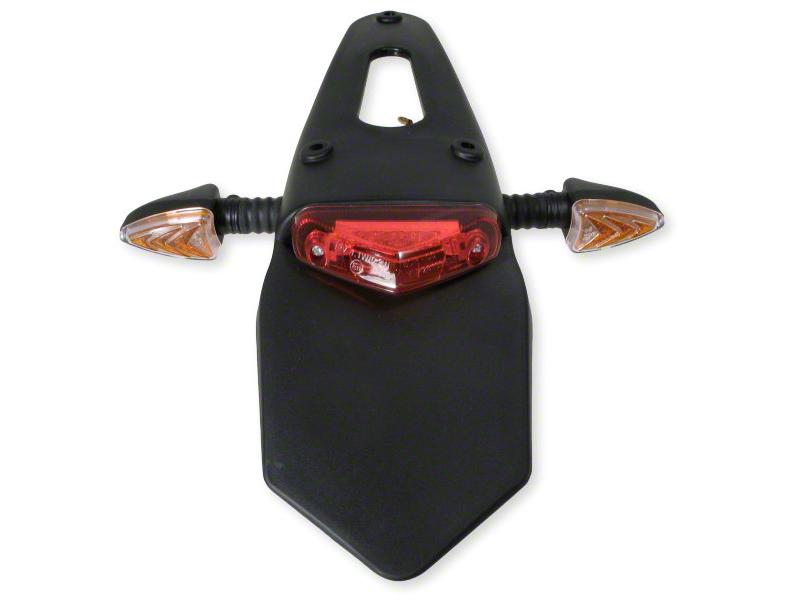 rallonge garde boue enduro arriere support de plaque bavette avec feu rouge clignotants. Black Bedroom Furniture Sets. Home Design Ideas