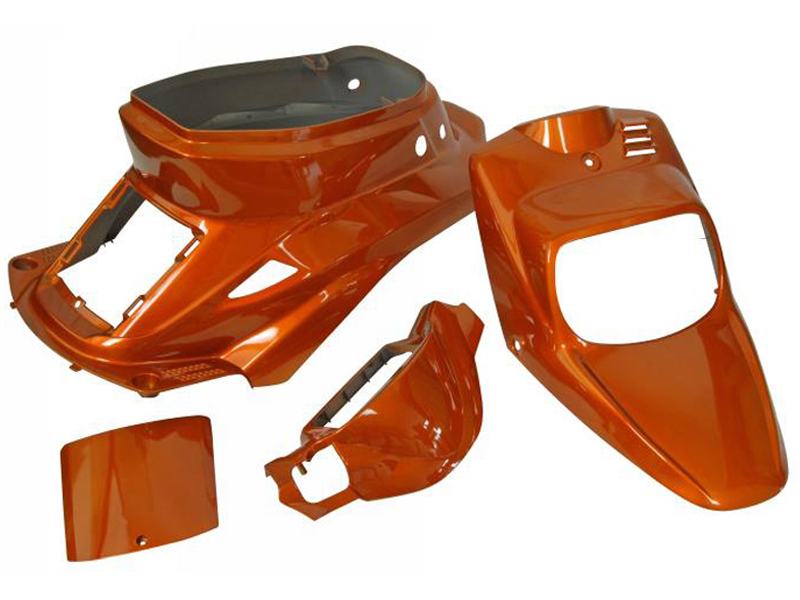 Carenages 4 coques carrosserie MBK Booster YAMAHA Bws avant 2004 Orange